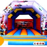 Action Heroes Adult Bouncy Castle Hire