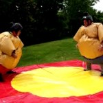 Adults Sumo Suits With Soft Play Mats